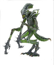 Collectible Anime Figure 18cm PVC Movie NECA Aliens Mantis Alien Doll Green 7 Model for Boy Fans Gift Brinquedos