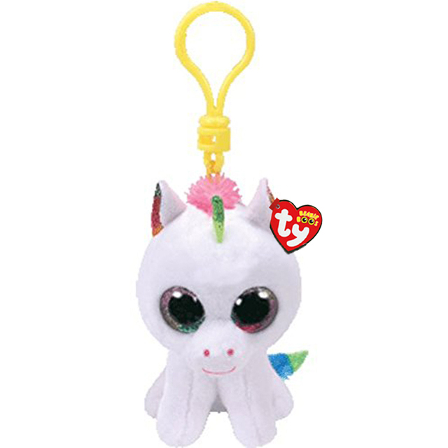 5b6d8cb2a73 Ty Beanie Boos Pixy The White Unicorn Colorful Horn Small Pendant Plush Toy  Clip Stuffed Collection Soft Doll With Tag 4