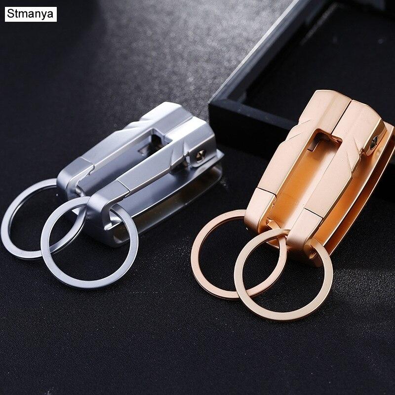 где купить Brand Top Men Car Key Chain Women New Waist hanging Key Holder Car Key Ring Metal Keychain Business Gift Jewelry K1149 дешево
