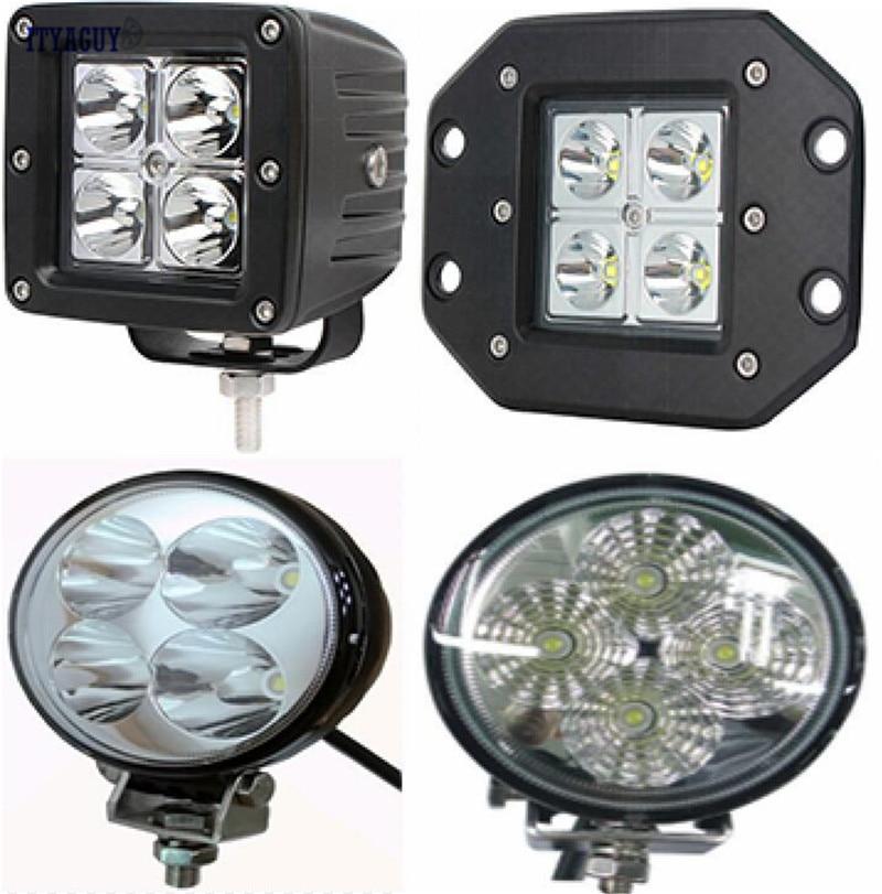 Universal Motorcycle Headlight Spotlight 12W Off-Road LED Worklight Car Auto Driving Lamp Spot Beam Round Fog Lamp