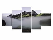Canvas Printings Landscape series 5 Piece Modern Style Cheap Pictures Decorative Wall Art Framed Prints Gift/J020-A010