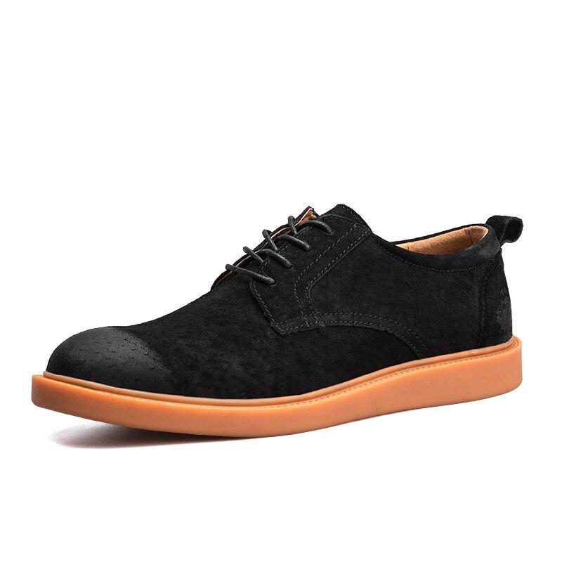 Homme Cuir Nouveau Mode gray Peau Porc Hommes Black Chaussures Richelieus Véritable En Zapatillas Homass Appartements Lace Casual De brown Hombre Up Printemps azI1f