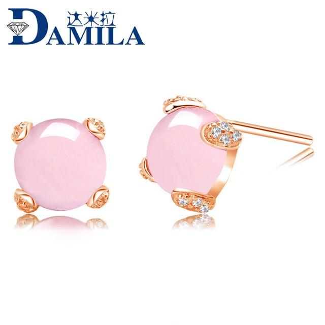 famous brand girlfriend gift cute gold Natural semi-precious stones Bohemian pink rose quartz crystal jewelry designer for Women