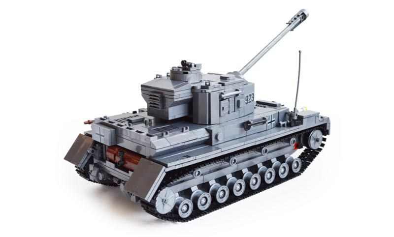 Века военные WW2 Пособия по немецкому языку Panzer IV F2 бак 3D модель Cannon Panzerkampfwagen 923 строительные блоки kazi KY82010 игрушка для малыша