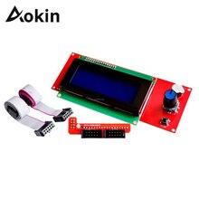 Aokin 2004 ЖК-дисплей Дисплей 3D-принтеры Reprap умный контроллер для адаптера Reprap RAMPS 1,4 1,6 Mega2560 доска 2004 ЖК-дисплей контроллер