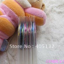 22 Warna/Banyak Perekat Stripping Tape Nail Art Benang Metalik Nail Stiker Seni(China)