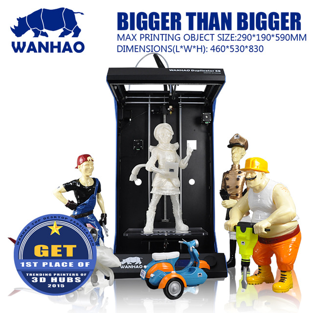 3D Printer Wanhao Duplicator D5S Large format high resolution flatbed simplified customs clearance for EU ask