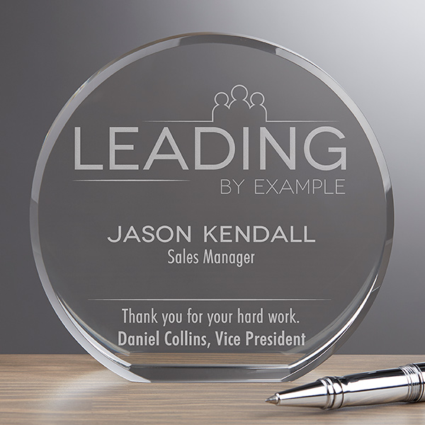 personalized premium crystal award trophy for