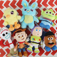 NEW  Movie Toy Story 4 Plush Toys Forky Bunny Alien Buzz Lightyear Soft Plush Stuffed Doll Figure Cartoon Toys for Children Gift 2019 movie forky soft plush stuffed doll figure cartoon toy children kids gift b705