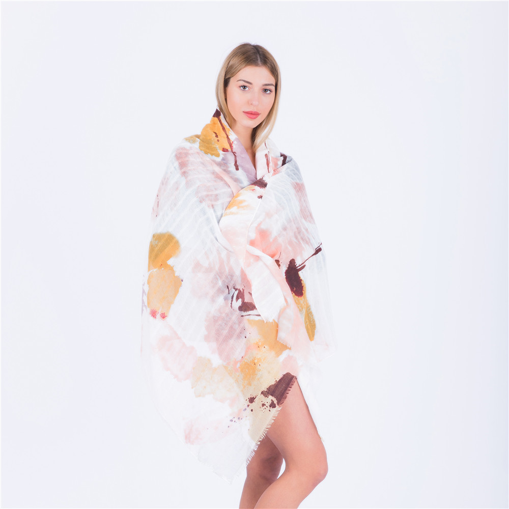 Jinjin QC 2019 New Fashion Spring Scarves Women Scarf Geometric Printed Wraps and Shawls Echarpe Foulard Femme Drop Shipping in Women 39 s Scarves from Apparel Accessories