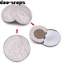 Магнитный Флиппер монета Монета с бабочкой(USD половина копия доллара) Волшебные трюки аксессуары для фокусника крупным планом реквизит трюк появиться Magia