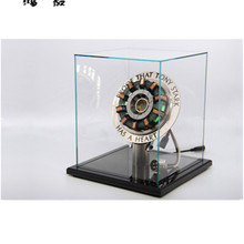 Месте продажи MANDO Железный человек MK1 реактор покрытый кожухом Ark свет модель сердца нагрудный фонарик металлический пульт дистанционного Edition(со световым эффектом) AG361