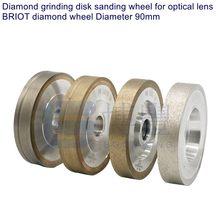 BRIOT автоматическая обработка линз диаметром 90 мм алмазные диски, алмазный шлифовальный диск шлифовального колеса для оптических линз