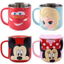 200/300 Ml Marvel Disney Air Piala Figures, Mainan Mickey Mouse Beku Spidrman Stitch Stainless Steel Anak Cangkir hadiah Mainan Anak Perempuan(China)