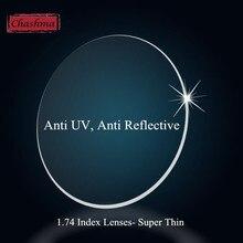 Chashma Ultra mince anti uv 1 .74 lentilles INDEX, revêtement HMI, lentilles optiques, fabrication personnalisée, Prescription