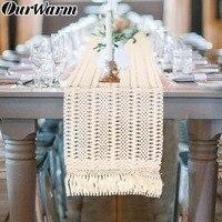 OurWarm Boho свадебные украшения стола марокканский макраме настольная дорожка с кисточками Baby Shower День рождения поставки 30X274 см