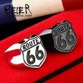 Beier новый магазин Нержавеющей Стали 316L кольцо высокое качество США Байкер дорога МАРШРУТ 66 Кольцо Для Мужчин Мотор Байкер мужские Ювелирные Изделия BR8-126