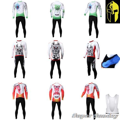 Fleece Cycling Jersey Spring Autumn Bike Racing Clothings Long Sleeve Mens Bike Jerseys Spring Riding Wear Free Shipping