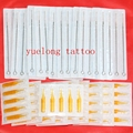 50pcs 7rl professional Tattoo Needles + 50pcs 7rt disposable sterile Tattoo Tubes Tips mixed 100pcs 7rl+7rt for  tattoo machine