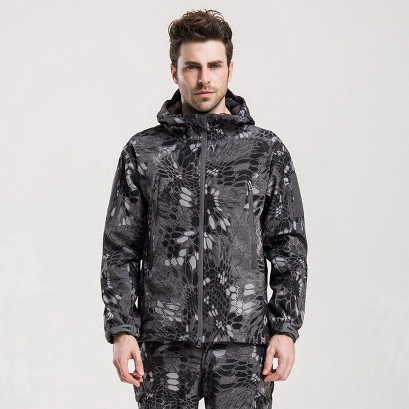 TAD Gear Tactical Soft Shell Camouflage Outdoor Jacket Set Men Army Sport Waterproof Hunting Clothes Set Military Jacket + Pants|outdoor jacket|waterproof hunting clothes|outdoor jacket men - title=