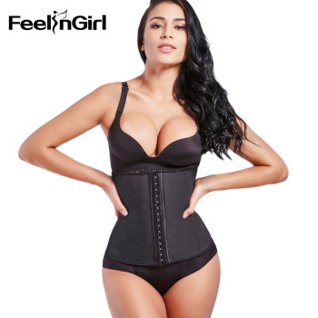 Big Discount! 9 Steel Boned Corset 100% Latex Waist Trainer For Women Latex Waist Cincher Belt Body Shaper Women Shapewear 1