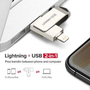 Image 4 - Ugreen USB Flash Drive USB Pendrive for iPhone Xs Max X 8 7 6 iPad 16/32/64/128 GB Memory Stick USB Key MFi Lightning Pen drive