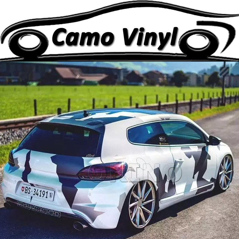 Car Styling Auto Car Body Arctic Sports Camo Vinyl Wrap ...