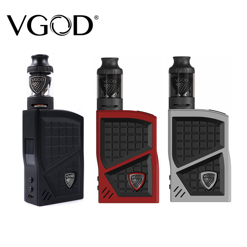 New VGOD Pro 200 Box Mod Kit TC Vaporizer Mod 200w 4ml VGOD Sub ohm tank Atomizer Electronic Cigarettes Vape mod accessories 200w 40 ohm 5