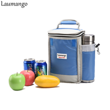 Laumango обед мешок Термальность изоляцией Пикник сумки для мужчин Для женщин Кулинария для детей для хранения фруктов охладитель контейнер для ланча Портативный чашки случае