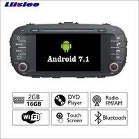 Liislee Android 7.1 2G RAM Para A Alma Kia 2014 ~ 2017 Car Radio Audio Video Multimedia DVD Player DVR WIFI GPS Navi navegação