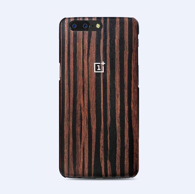 100 Original Oneplus 5 /5T Case Sandstone Black Rosewood Ebony Wood