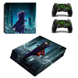 Image 3 - Joker Man Design Skin Sticker For Sony Playstation 4 Pro Console & 2PCS Controller Skin Decal For PS4 Pro Game Accessories