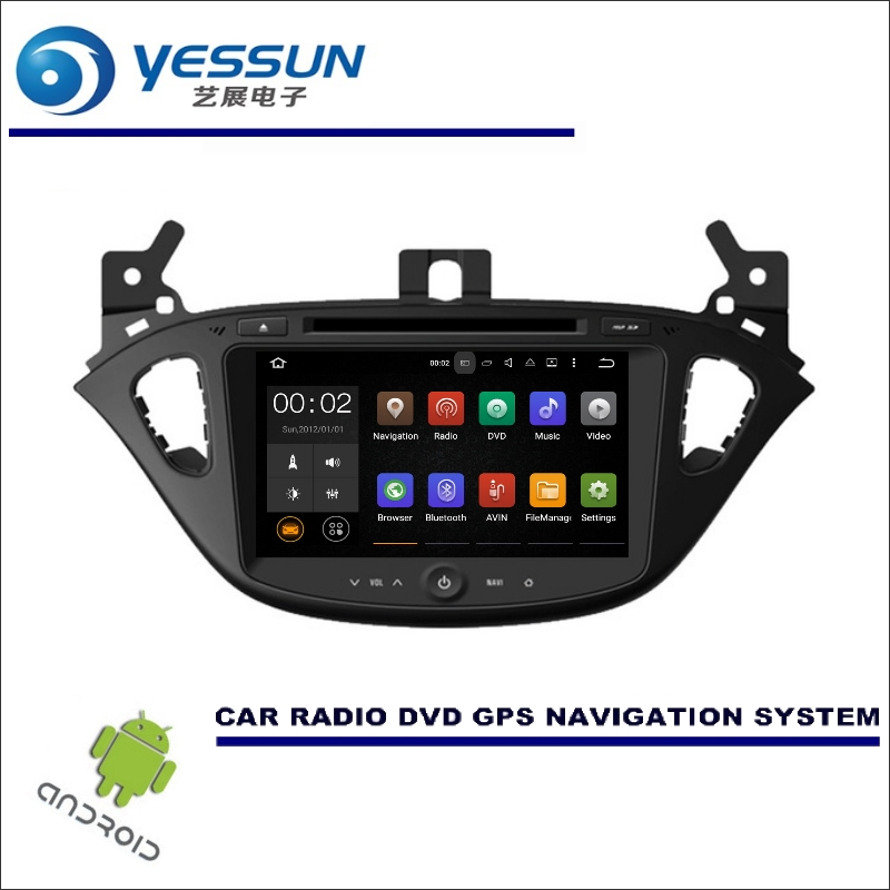 YESSUN Wince / Android Car Multimedia Navigation For <font><b>Opel</b></font> <font><b>Corsa</b></font> E <font><b>2014</b></font>~2017 CD DVD GPS Player Navi <font><b>Radio</b></font> Stereo Touch Screen image