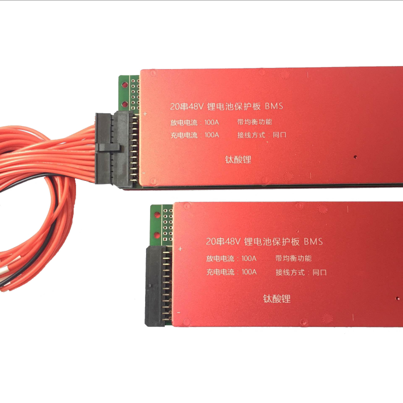 LTO Battery BMS 25S 60V 80A 100A 200A Lithium Titanate Battery Circuit Protection Board BMS PCM for LTO Battery Pack Same Port lto battery bms 5s 12v 80a 100a 200a lithium titanate battery circuit protection board bms pcm for lto battery pack same port