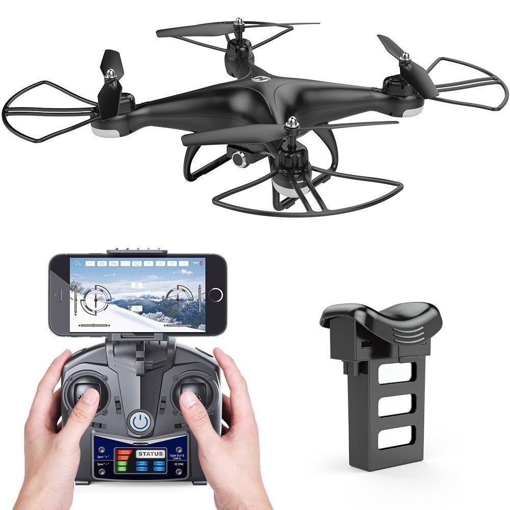 Saint Pierre HS110D FPV Drone avec Caméra HD RC Hélicoptère WiFi APP Contrôle 6-Axe Gyro Maintien D'altitude Modulaire batterie Quadcopter