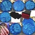 10 pcs Unha Polonês Impressão Conjunto Nail Art Stencils Template Placa Imagem Stamper Raspador DIY Manicure Ferramentas