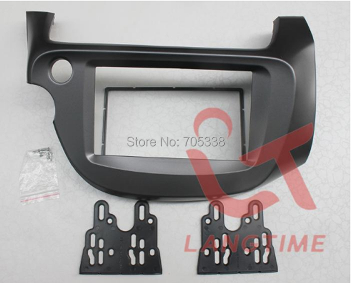 Perfect Free shipping-car refitting dvd frame audio frame cd panel for 2008 Honda Fit Jazz ( Left driver)08-13, 2DIN 1