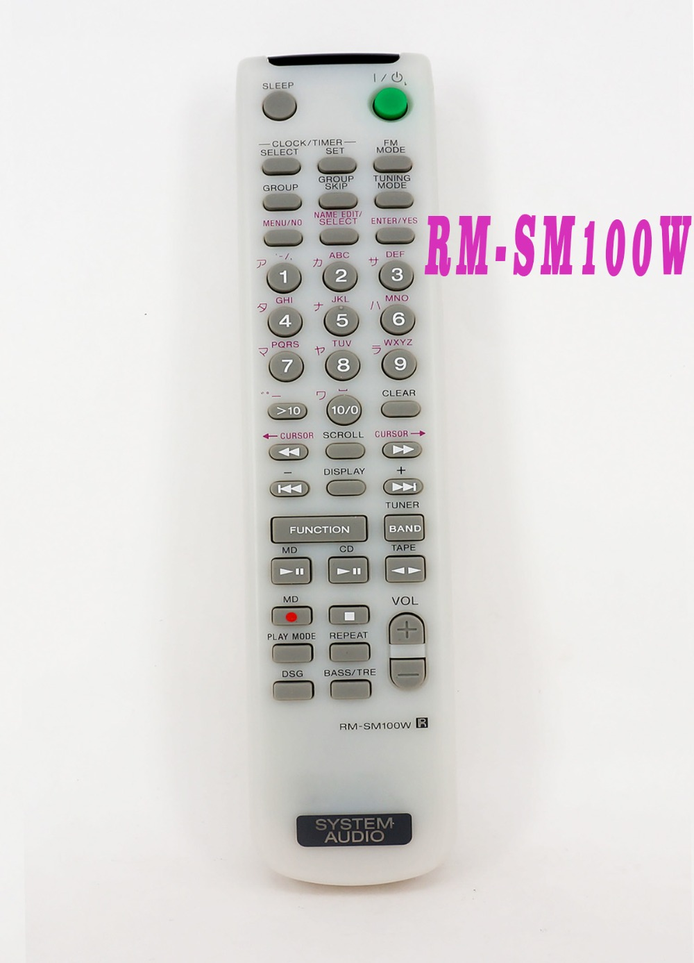 New Remote control For SONY SYSTEM AUDIO CD REMOTE FOR RM-SM100W CMT-M100MD RM-SM100EB микросистема dvd sony cmt sbt40d black