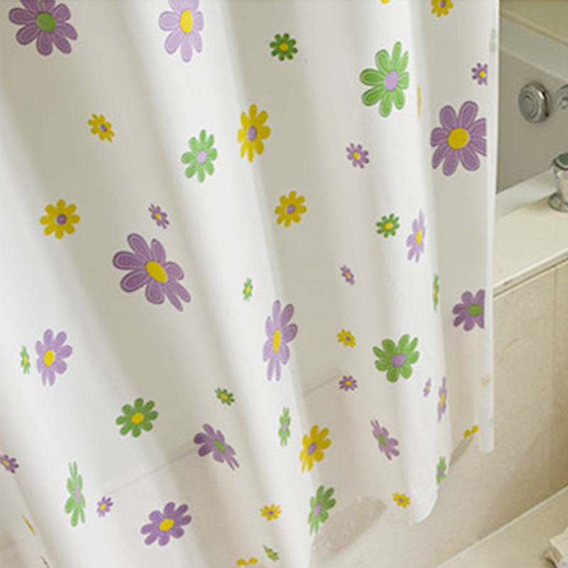 Aliexpress.com : Buy PEVA Shower Curtain Waterproof Mould Proof Home  Bathroom Curtains Starfish Circle Floral Shower Curtain With Hooks 180*200  Cm From ...