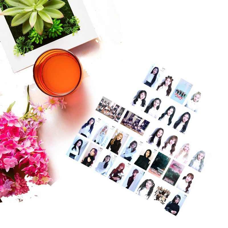 30 ピース/セットkpop loona女の子チームアルバム蝶写真カードpvcカードメイドlomoカードphotocard