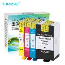 TIANSE 4 шт. для hp 905 905XL Новый чернильный картридж совместимый hp 905XL для hp officeJet pro 6960 6970 6950 6956 все-в-одном принтере