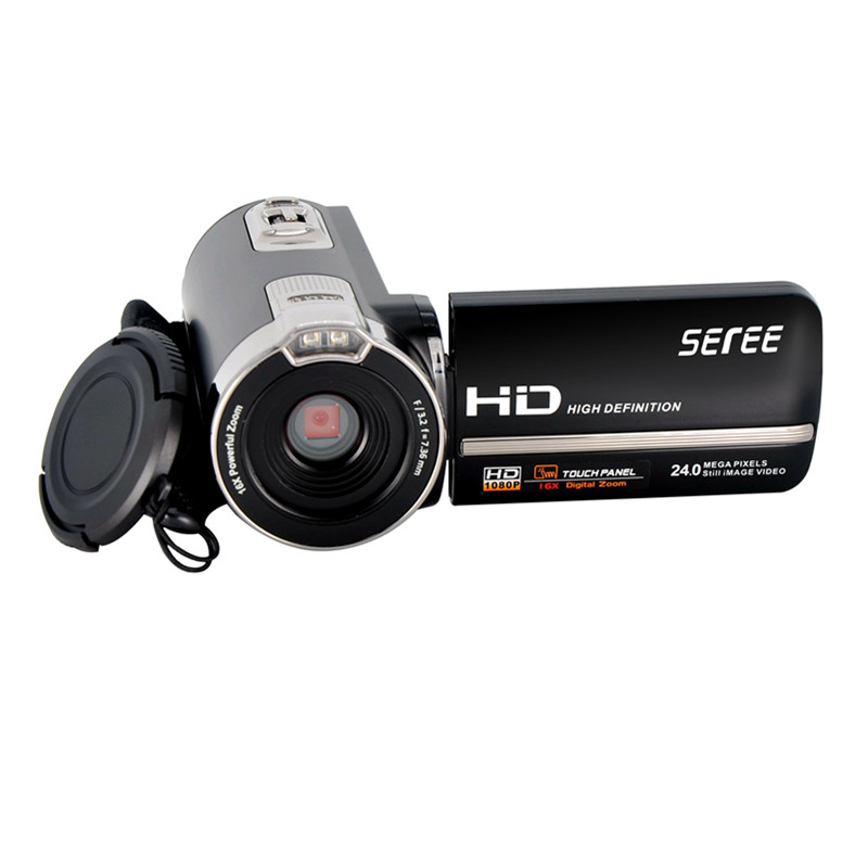 FHD 1080P Digital Video Camcorder Night Vision Wide Angle Macro Fisheye Shooting 24MP Touch Screen Camera