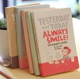 Корейская Милая Красная шляпа для девочек, дневник, записная книжка, подарок каваи, креативный студенческий бумажный дневник, блокноты, шко...