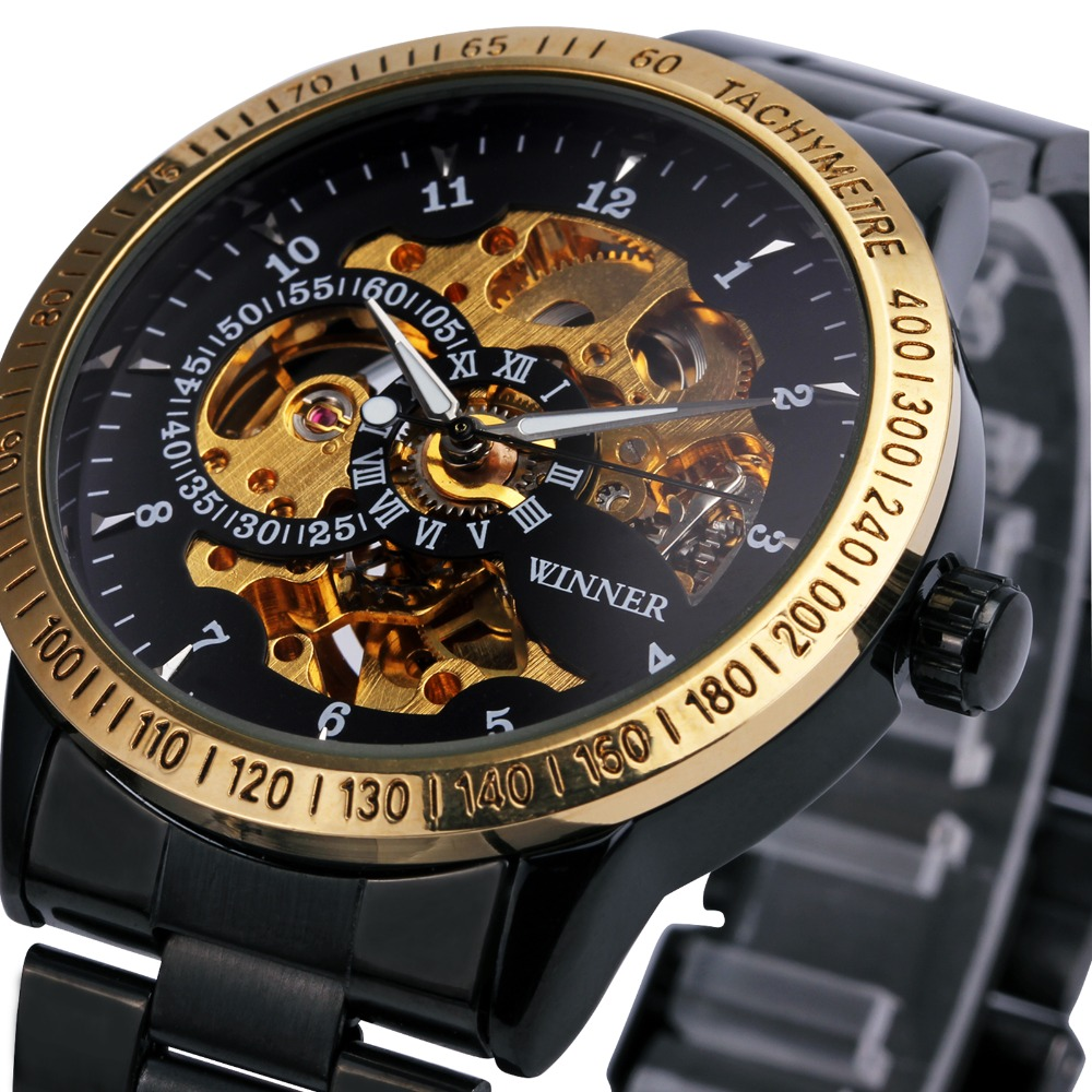 2016 new winner luxury sport clock men automatic watch skeleton military mechanical watch. Black Bedroom Furniture Sets. Home Design Ideas