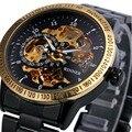 2016 Novo Vencedor Relógio Do Esporte de Luxo Homens Esqueleto Relógio Automático Mecânica Militar Assista Relogio Masculino Montre Relojes Homens Relógio
