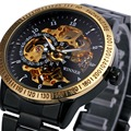 2016 Nuevo Ganador Luxury Sport Reloj de Los Hombres Reloj Automático Esquelético Mecánico Militar Reloj Relogio Masculino Montre relojes Reloj Para Hombre