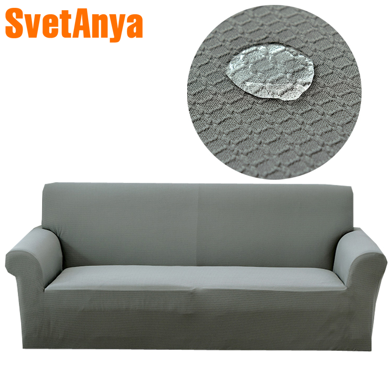 Svetanya Waterproof Sofa Cover Slipcovers all-inclusive Couch Case for different Shape Sofa High Quanlity Solid Color