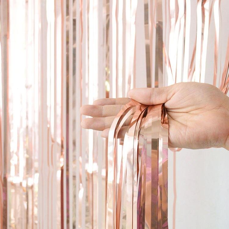 2 м девичник вечерние занавески День Рождения украшения стены Свадебные украшения день рождения украшения для взрослых - Цвет: Champagne