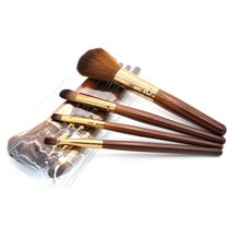 4pcs Face Makeup Blush Powder Brown Color Handle Cosmetic Large Make Up Brushes