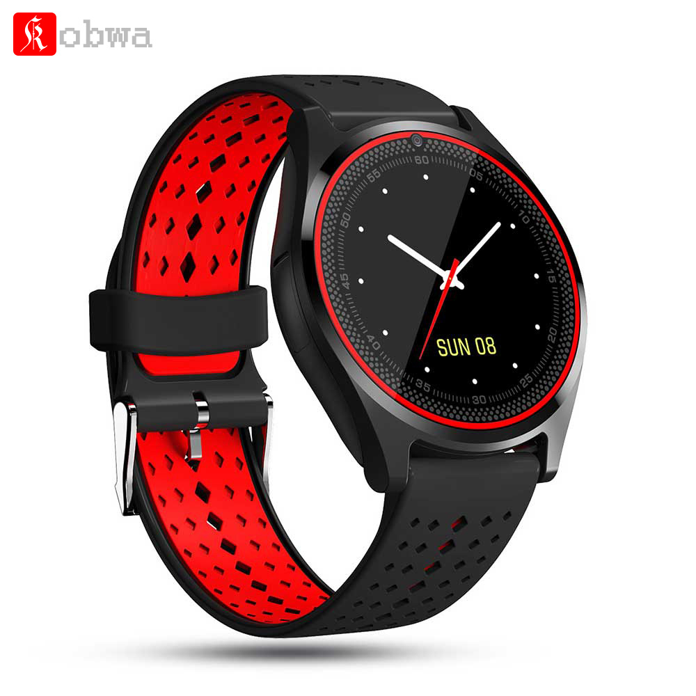 Kobwa V9 Bluetooth Smart Watch bracelet Band With Camera Support SIM TF Card for Android Phone PK V8 Y1 DZ09 GT08 Smartwatch купить в Москве 2019